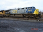 CSX 683 on the point of CSX Q112 EB on the #1 Track
